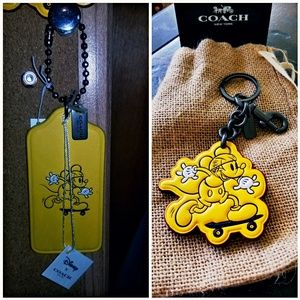 Coach Limited Edition Mickey Mouse Keychains